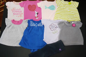 Infant girl summer clothes size 9-12 months (lot of 9)
