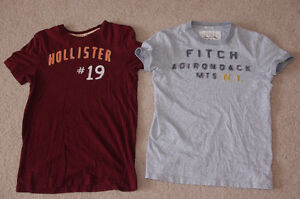 Hollister and Abercrombie & Fitch T-shirts, Size XS and S