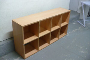 TV Stand Cube Storage BIG LARGE Indoor STURDY Clean Modern Wood