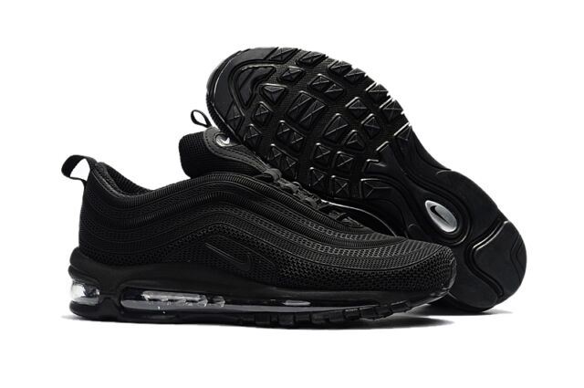separation shoes f491c a5a12 ... Nike Air Max 97 LX Trainers Triple Black UK6 - 11 ...