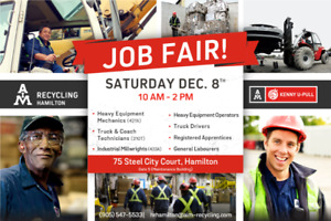 JOB FAIR !!!  Heavy Equipment / Truck & Coach Mechanics & More!
