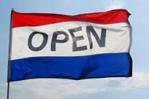 OPEN Business Flags