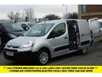 2013 CITROEN BERLINGO 725 X L2 1.6HDI 5 SEATER COMBI CREW VAN IN SILVER WITH AIR