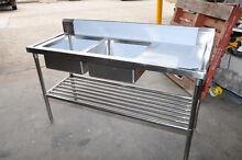 1600MMX610MM 304 STAINLESS KITCHEN CATERING DOUBLE SINK BOWL Wetherill Park Fairfield Area Preview