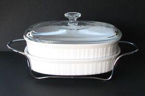 Corning French White Casserole Set