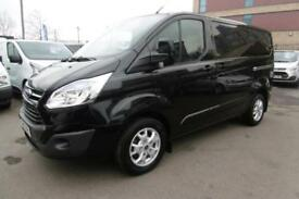 2015 FORD TRANSIT CUSTOM 270 LIMITED 2.2 TDCI 125 L1 H1 SWB IN BLACK **** CHOICE