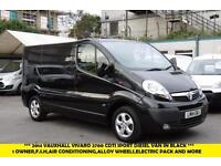 2014 VAUXHALL VIVARO 2700 CDTI SPORTIVE IN BLACK DIESEL VAN WITH AIR CONDITIONIN