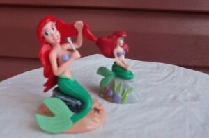 Set of 2 Little Mermaid Princess Ariel Figurines/Cake toppers