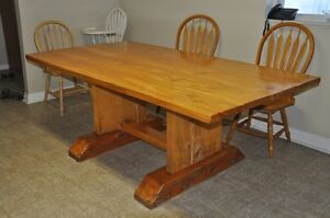 Hand made log table, unique wooden table, dining table Peterborough Peterborough Area image 2