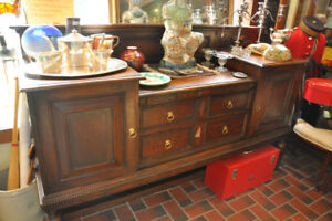 ANTIQUE OAK CREDENZA AT THE ORONO ANTIQUE MARKET