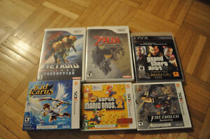 3ds, wii and ps3 games