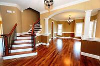Hardwood flooring & re-sands