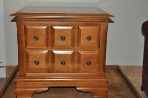 Two Vilas Solid Maple End Tables