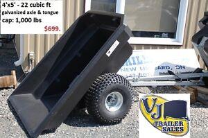NEW! – ATV dumper trailer – 4' x 5'