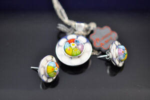 Murano Necklace and earring Set by Alan K