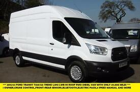 2015 FORD TRANSIT 350/125 TREND LWB L3H3 HI ROOF DIESEL VAN WITH ELECTRIC PACK,C