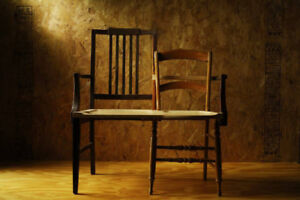 Reconfigured Victorian Chairs - $1 (Queen Street West)