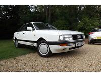 1990 Audi 90 2.3 E 4dr SALOON 77K LOW MILES CLASSIC CAR FSH 2 OWNERS LEGENDARY