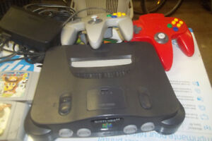 Nitendo 64 with original games and 2 controllers..