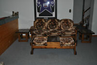 Couch,2-chairs,coffee table and 2-end tables