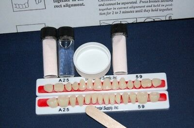 28 Quality Denture Teeth Denture Repair Kit  !  Free Shipping FDA Registered