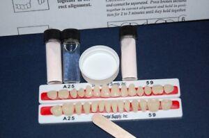 28 Quality Denture Teeth Denture Repair Kit  !  Free Shipping FDA Registered