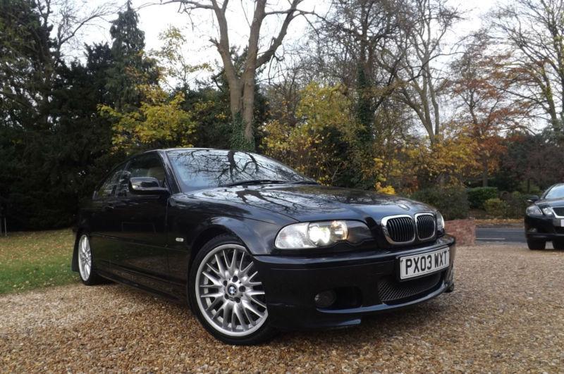 2003 E46 BMW 325 Ci M Sport 2.5i 192 BHP COUPE FSH CREAM BEIGE SPORTS LEATHER 18