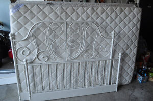 White Steel Frame Double Bed
