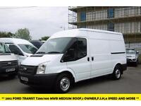 2012 FORD TRANSIT 280/100 MWB MEDIUM ROOF DIESEL VAN *** 1 OWNER,SERVICE HISTORY