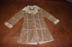 girls Faux Suede Fall and Winter Coat.