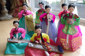 "NEW 9 Handmade Korean Dolls 13"" – Crafted in Seoul"