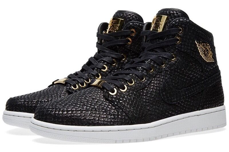491b7a158384ff Nike Air Jordan 1 Pinnacle Black Size 13 UK 48.5 EUR 24k Gold