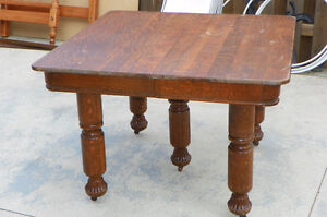 "Antique Table quarter sawn oak, also referred to as ""tiger oak""."