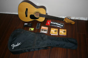 Like New Fender Californian Acoustic Guitar w/ Case & Tuner