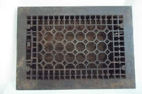 Antique Decorative Cast Iron Wall Heat Grate, Honeycomb Design