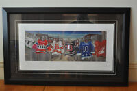 Guy Lafleur rare lithograph signed and auth with prof framing.