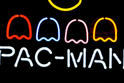 neon real glass pac man neon sign light game room wall poster