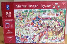 "Jigsaw puzzle 1000 piece Whs ""Mirror Image Theme Park complete"