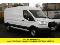 2014 FORD TRANSIT 350 LWB SEMI HIGH ROOF DIESEL VAN WITH 6 SPEED AND MORE PANEL