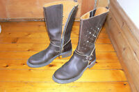 Made in Italy leather boots - size 40 (9US)