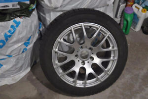 Snow Tires with Rims for a 2013 BMW 328 XDrive - 225/50R17