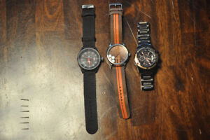 Lot of 3 watches for men - new / 3 montres hommes