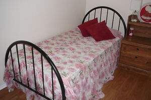 Bed frame with mattress – single - $70
