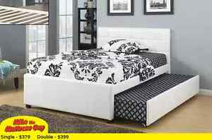 SINGLE OR DOUBLE BED WITH TRUNDLE FOR 2- MIKE'S BEST PRICE AGAIN