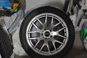 SNOW TIRES WITH RIMS FOR BMW 528 XDRIVE 2013 - 245/45R18
