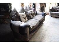 3 piece 3seater sofa suite settee couch cuddle chair and stool