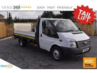 Ford Transit NO VAT 13.77FT ONE STOP ALLOY DROPSIDE WITH TAIL LIFT 350 CHOICE OF