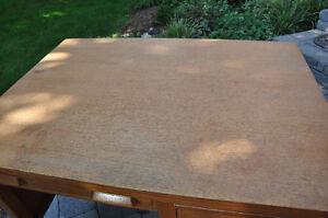 "Solid Oak - Wooden Desk - ""Teacher Desk"" $75  with  FREE chair Cambridge Kitchener Area image 3"