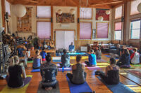 THE FULL VIEW OF TRADITIONAL YOGA RETREAT AT DORJE DENMA LING