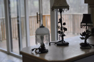 Table lamps, all workinng